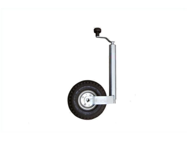 Koło podporowe z korbą, 48 mm, koło pneumatyczne 260 x 85 mm | HIT CENOWY