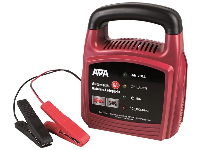 Automatyczna ładowarka do akumulatorów 12 V, 6 A   APA