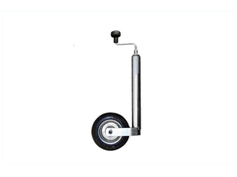 Koło podporowe z korbą, 48 mm, koło gumowe pełne 200x50 mm | LASO