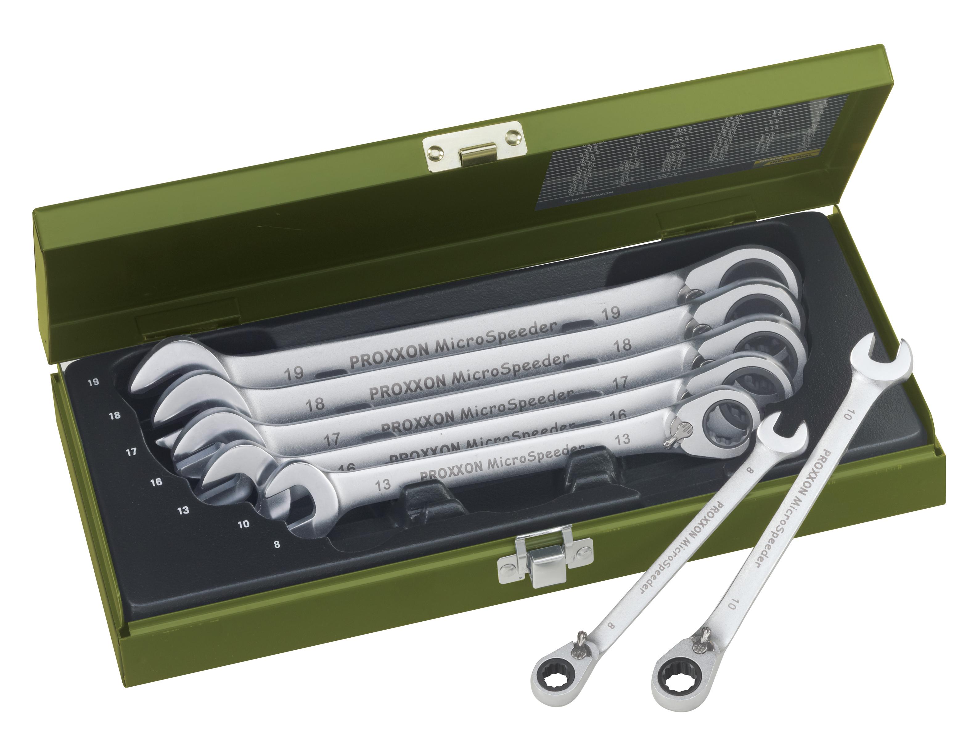 Zestaw kluczy MICRO-Speeder, 7-częściowy, 8-19 mm | PROXXON