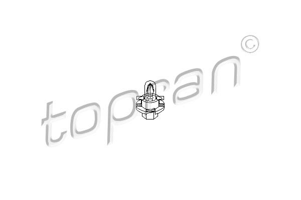 Żarówka, ożwietlenie tablicy przyrządów | TOPRAN